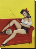 Mid-Century Pin-Ups - Joker Magazine - Fishin n funny