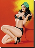 Mid-Century Pin-Ups - Beauty Magazine - Hot in Black