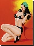 Mid-Century Pin-Ups - Beauty Magazine - Hot in Black