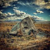 Abandoned Decaying Caravan