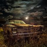 Rusting Old Car in Rural Location