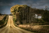 Rural Road Disappearing into Distance in USA