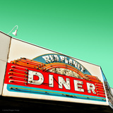 Diner Neon Retro Sign in America