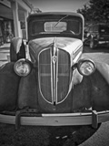 A Plymouth Roadster on a Lot Is an Automobile Relic from the Past