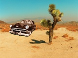 Edited Image of Classic Car in Amrican Desert