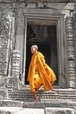 Buddhist Monk on Steps
