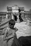 A Young Monk at Angkor Wat  Cambodia