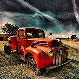Retro Americana Red Truck