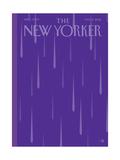 Prince Purple Rain New Yorker Magazine Cover - May 2, 2016 Giclee par Bob Staake
