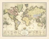 World Spice Trade Map Giclée par The Vintage Collection