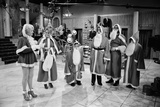 Filming of 'Are You Being Served'  1976