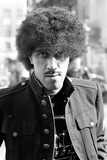 Phil Lynott of Thin Lizzy During a Recording Session for the Groups New Album