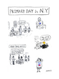 Primary Day in NY - Cartoon
