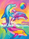 Brushstoke Dolphins