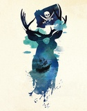 Captain Hook Reproduction d'art par Robert Farkas