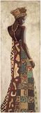 Femme Africaine III Reproduction d'art par Jacques Leconte