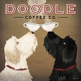 Doodle Coffee Double IV Reproduction d'art par Ryan Fowler