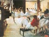 Ecole de Danse Reproduction d'art par Edgar Degas