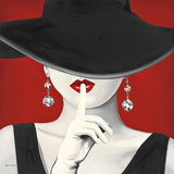 Haute Chapeau Rouge I Reproduction d'art par Marco Fabiano
