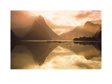 Mitre Peak At Sunset  Milford Sound  South Island  New Zealand
