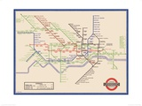 London Underground Map  Harry Beck  1933