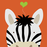 Peek-a-Boo Zebra Reproduction d'art par Yuko Lau