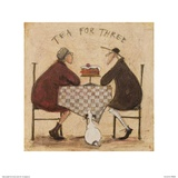 Tea for Three (Checkered Tablecloth)