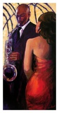 Sax Seduction Reproduction d'art par Monica Stewart