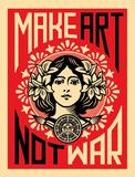 Make Art Not War Reproduction d'art par Shepard Fairey