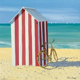 Red and White Beach Hut