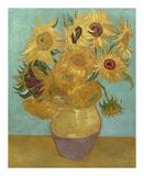 Sunflowers, 1889 Reproduction d'art par Vincent Van Gogh