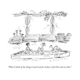 """""""When I think of the things I used to do for stickers  I feel like such an"""" - New Yorker Cartoon"""