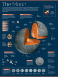 Infographic on the Moon: its Atmosphere  Composition  Lunar Movements  Lunar Phases and More