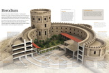 Infographic of Herodium  Constructed by Herod the Great  Jerusalem in the I Century BC