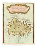 Petite Map of Island of Antigua