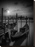 Venice Gondolas At Sunrise - Monochrome