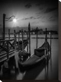 Venice Gondolas At Sunrise - Monochrome