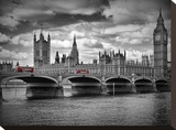 London Houses Of Parliament & Red Busses