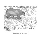 """I recommend the trout"" - New Yorker Cartoon"