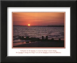 Serenity Prayer Ocean Beach Sunset