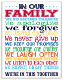 In Our Family Rainbow Typography