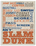 Orange and Navy Basketball Typography