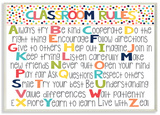 Classroom Rules Colorful Alphabet