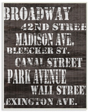 Broadway Distressed New York City Streets
