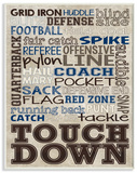 Brown and Navy Football Typography
