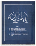 Vintage Pig Body Blueprint