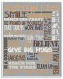 Playroom Rules Typography Denim Feel