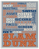 Basketball Typography Denim Feel