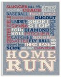 Baseball Typography Denim Feel
