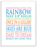 Somewhere Over The Rainbow Typography